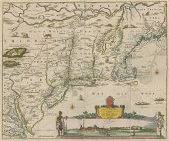 Map Of The New England States by Maps And The Beginnings Of Colonial North America Digital