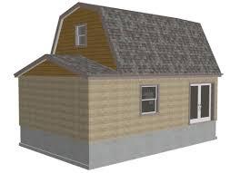 g455 gambrel 16 x 20 shed plan free house plan reviews