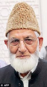 Syed Ali Shah Geelani, of Hurriyat Conference, was placed under house arrest by the Delhi Police on Saturday as a preventive measure following the hanging ... - article-0-177582AE000005DC-644_233x423