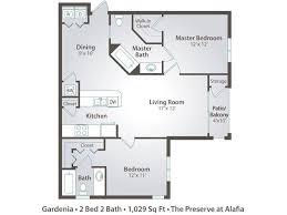 Floor Plan 2 Bedroom Apartment 2 Bedroom Apartment Floor Plans U0026 Pricing U2013 The Preserve At Alafia