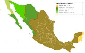Time Zone Map Usa With Cities by Time In Mexico Wikipedia