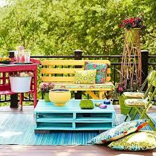 Best Colorful Patios Images On Pinterest Outdoor Spaces - Colorful patio furniture