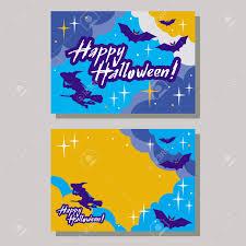 halloween vector art halloween greeting card with originally written text