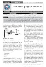process modeling and simulation of abrasive jet machine a review