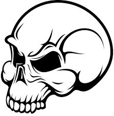 simple skull drawing clip art library