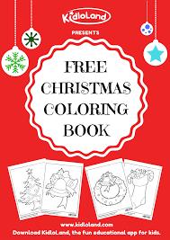 free christmas coloring book kidloland