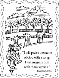 thanksgiving coloring pages scripture give thanks pinterest
