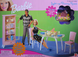 Dining Room Play Amazon Com Barbie Light Up Dining Room Playset 1999 Toys U0026 Games