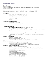 Sample Rn Resume 1 Year Experience by Registered Nurse Resume Objective Statement Examples Resume For