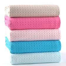 couverture coton bio achetez en gros gaufre coton couverture en ligne à des grossistes