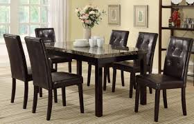 amazon com 7 piece casual dining set by poundex table u0026 chair sets
