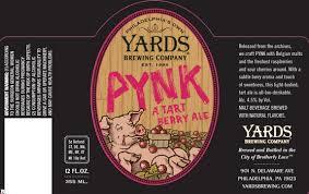 Yards PYNK Tart Berry Ale | BeerPulse