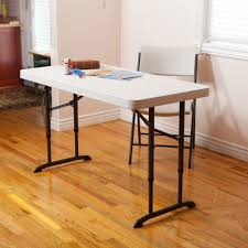 8 Foot Desk by Lifetime 4 U0027 Adjustable Folding Table White Granite Walmart Com