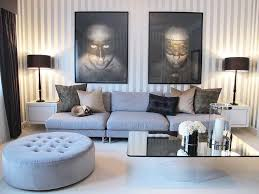 soft grey wall color ideas for relaxing gray living room interior