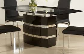 high gloss finish modern dining table w optional chairs