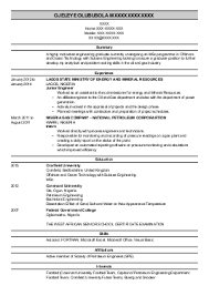 Engineering CV template  engineer  manufacturing  resume  industry   construction