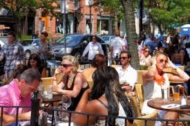 Best Places to Be Rich and Single   MONEY Time Alfresco dining at Stephanie     s on Newbury Street  Boston