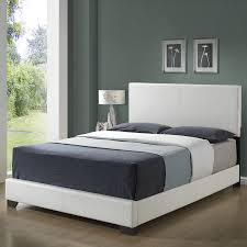 shop monarch specialties white queen low profile bed at lowes com