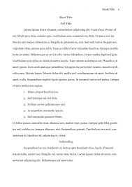 MLA Style Research Paper Template PDF Printable