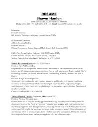 Sample Personal Trainer Resume by Athletic Training Resume Resume For Your Job Application