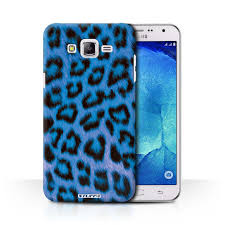 Blue Leopard Print by Stuff4 Back Case Cover Skin For Samsung Galaxy J7 J700 Leopard