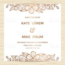 Invitation Card Of Wedding Save The Date Wedding Invitation Card Template With Flower Wreath