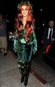 Poison Ivy Halloween Costume Kids Shenae Grimes Slips Tight Poison Ivy Suit Join Joker