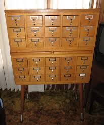 2 Drawer Oak Wood File Cabinet by Antique 30 Drawer Oak Library Card File Cabinet 2 Pull Out