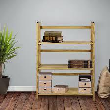 casual home 3 shelf folding bookcase natural amazon ca home