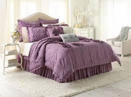 Purple Bed Sets by Amazon Com Lc Lauren Conrad Chloe Ruffle Comforter Set Purple