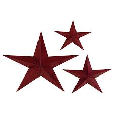 shop woodland imports 3 piece w x h frameless metal stars 3d wall