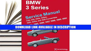 download bmw 3 series service manual 1984 1990 by bentley
