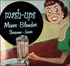 Mashup Image of women with blender