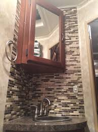 rv bathroom backsplash done in 1 hour with peel and stick smart