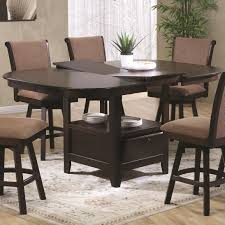 Swivel Dining Room Chairs U S Furniture Inc 2241 2242 7 Piece Pub Height Oval Top Table