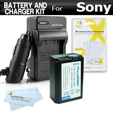 amazon com replacement np fw50 battery and charger kit for sony