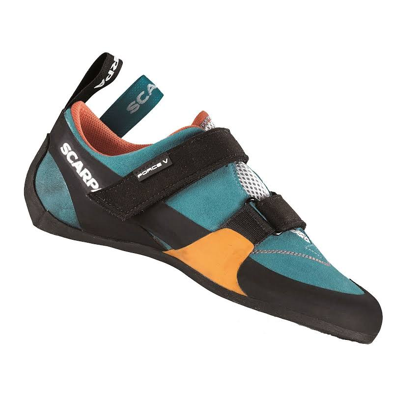 Scarpa Force V Climbing Shoes Icefall/Mandarin Red