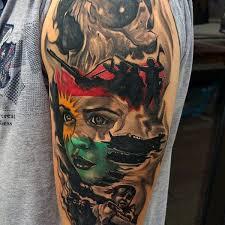 Tattoo Designs Half Sleeve Ideas 100 Military Tattoos For Men Memorial War Solider Designs