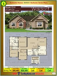 waldorf rochester modular home model er6 ranch plan price
