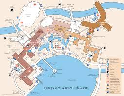 Orlando Florida On Map by Disney Yacht And Beach Club Resort Map