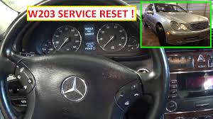 mercedes w203 service reset service a reset c180 c200 c220 c230