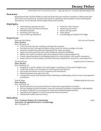 Sample Personal Resume by Best Personal Services Hair Stylist Resume Example Livecareer