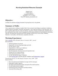 comprehensive resume sample for nurses how to write a winning cna resume objectives skills examples sample certified nursing assistant resume inspiration decoration sample nursing assistant resume