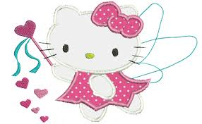 kitty cupid applique design