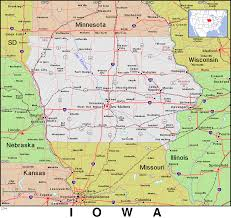 Map Of Iowa State by Ia Iowa Public Domain Maps By Pat The Free Open Source