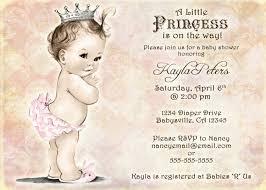 Reunion Cards Invitation Vintage Baby Shower Invitation For Princess Crown