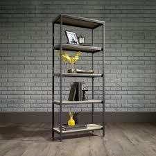 Sauder Black Bookcase by North Avenue Tall Bookcase 420277 Sauder