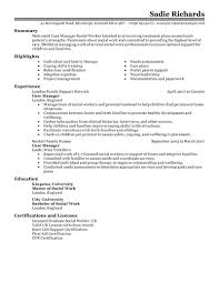 Writing A Summary For Resume Best Case Manager Resume Example Livecareer
