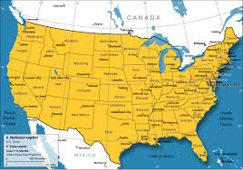 Time Zone Map Usa With Cities by United States Map Nations Online Project