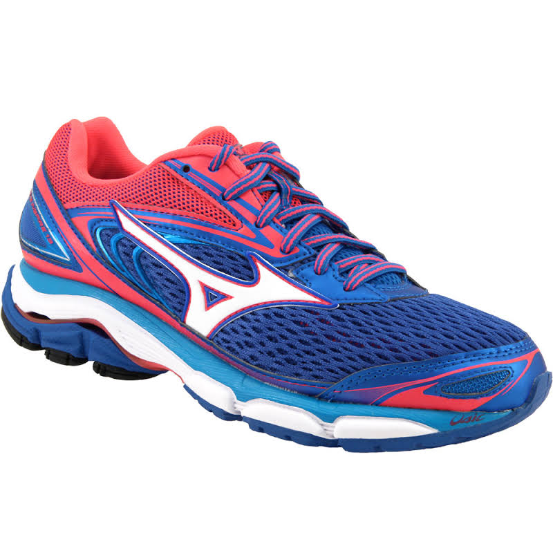 Mizuno Wave Inspire 13 Blue / White Pink Ankle-High Mesh 6.5M